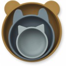 Set van 3 siliconen kommetjes - Eddie silicone bowls 3-pack golden caramel/blue multi mix