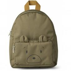 Kakigroene kleuterrugzak met berensnoetje - Allan backpack mr bear khaki