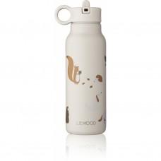 Beige drinkbus met diertjes - Falk water bottle 350 ml friendship multi mix [backtoschool]