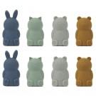Set van 8 vingerpopjes - Jim finger puppets 8-pack blue multi mix