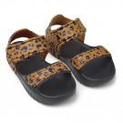 Sandaaltjes met luipaardprint -Blumer sandals mini leo/ mustard