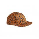 Mosterdgele zonnepet met luipaardprint - Rory cap mini leo/mustard