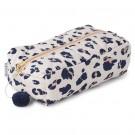 Omkeerbare toiletzak met luipaardprint of stipjes - Beate toiletry bag leo