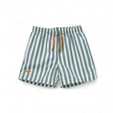 Groen gestreepte zwembroek - Duke board shorts peppermint/white