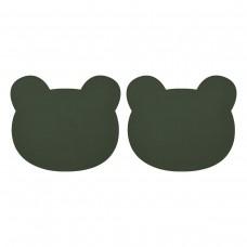 Set van 2 donkergroene placematjes beer - Gada placemat 2-pack bear hunter green