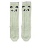 Kniekousjes muntgroen panda - sofia panda knee socks dusty mint - maat 17/18 - 0/6m (Geboortelijst Billy D.C. )