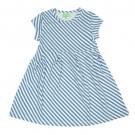 Blauw gestreept kleedje - Hanna dress diagonal stripes