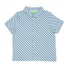 Blauw gestreept hemdje - Julian jeff shirt diagonal stripes