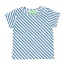 Blauw gestreepte t-shirt - Kas baby t-shirt diagonal stripes