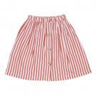 Lange gestreepte rok - thalia skirt boat stripe strawberry