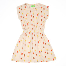 Lichtroze kleedje met ijsjes - Yara dress ice cream pink