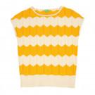 Gebreide zigzag t-shirt - Bella top citrus