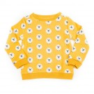Donkergele sweater met schaapjes - Mika sweater jacquard sheep