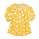 Donkergeel jacquard kleedje met schaapjes - Dress Alizee jacquard sheep - maat 104 (Geboortelijst Seppe V.H.)