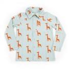 Hemdje met lange mouwen met giraffen - Shirt guust girafs - maat 68 (Geboortelijst Röy V.z.)