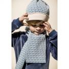 Blauwe sjaal - scarf knit petrol