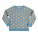 Blauwe trui met schaapjes - jumper andreas Knit sheep - maat 3 - 4 jaar (Geboortelijst Babette V. K.)
