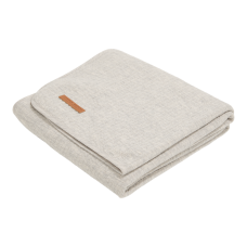 Grijs ledikantdeken  -  blanket pure grey
