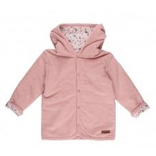 Roos babyjasje met bloemetjes - Pink melange spring flowers
