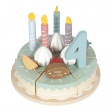 Houten verjaardagstaart