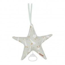 Muntgroene muziektrekker ster met gansjes  - Star shaped music box little goose
