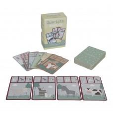 Kwartet kaartspel dieren