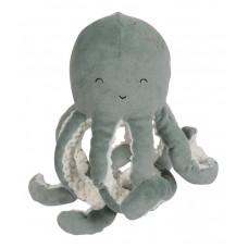 Muntgroene knuffel octopus - Knuffel octopus ocean mint