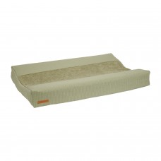 Olijfgroene waskussenhoes - Changing mat cover pure olive