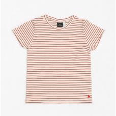 Gestreepte t-shirt - T-shirt jersey ruby stripes - Dames