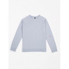 Lichtblauwe sweater - Raglan sweater french terry arctic blue dames