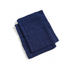Set van 2 blauwe tetrawashandjes indigo