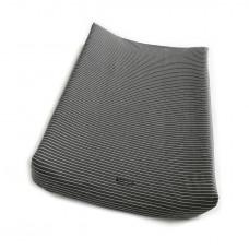 Antraciet waskussenovertrek met strepen : la linea antracite