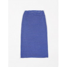 Blauwe gestreepte lange rok - Long skirt terry stripes palace blue - Dames