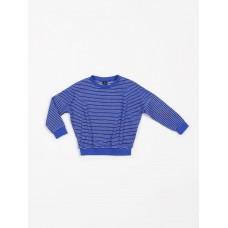 Blauwe gestreepte trui - Oversized sweater terry stripes palace blue - Dames