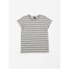 Grijs gestreepte t-shirt - Short sleeve terry stripes grey melee lucien - dames