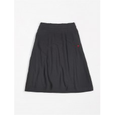 Antracietgrijze hydrofiele wijde rok kids - Siska - Skirt wide tetra antra