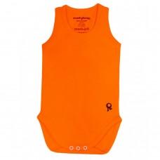 Mouwloze oranje body - Mambotango