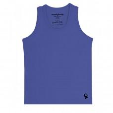 Blauwe mouwloze t-shirt - mambotango