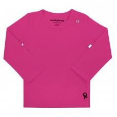 Fuchsia t-shirt lange mouwen - Mambotango