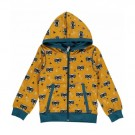 Okergele hoodie met met boevenprint