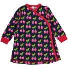 Wikkeljurk met kersjes - dress wrap long sleeves cherry