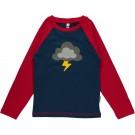 T-shirt met donderwolk- top lightning