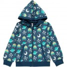 Blauwe hoodie met ruimtemonsters - hoodie space ship