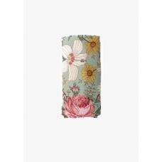 XL-tetradoek - Garden Floral (Sea foam)