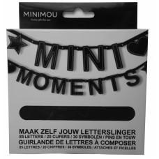 Zwarte letterbanner DIY - minimoments
