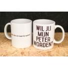 Koffiemok - Wil je mijn peter worden?