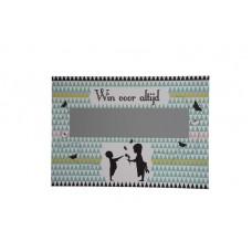 Groot krasbiljet Nordic silhouette : win voor altijd - wil je mijn peter worden