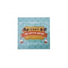 Balloon and cupcake sticker - Jij bent de liefste meter!