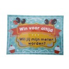 Groot krasbiljet balloon: win voor altijd - wil je mijn meter worden