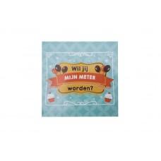 Balloon and cupcake sticker - Wil je mijn meter worden?